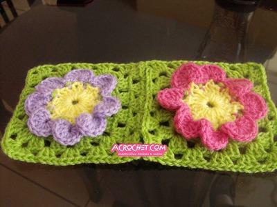 Uniendo dos flores de 8 pétalos