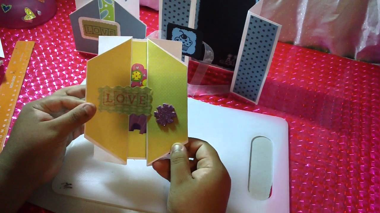 3 TARJETAS POP OPEN SCRAPBOOK ORIGINAL Y FACIL