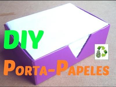 47. DIY PAPER ORGANIZER (PORTA NOTAS) RECICLAJE DE CARTÓN Y HOJAS DE PAPEL