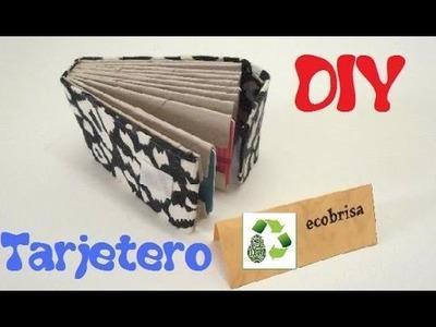 63. DIY TARJETERO ( RECICLAJE DE TUBOS DE PAPEL)