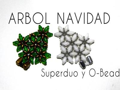 Abalorios - Arbol de navidad con Superduo y Obead