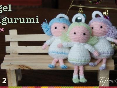 Ángel tejido a crochet amigurumi (Parte 2)