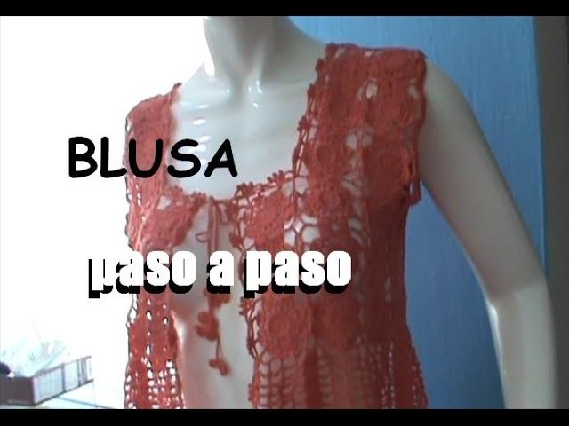 #BLUSA #MOTIVO #FLOR SENCILLA 8 PETALOS PARTE 2 #GANCHILLO #CROCHET