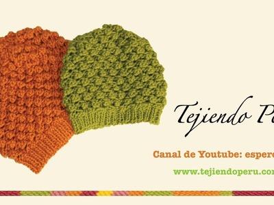 Boina floja o caida en dos agujas (Slouchy knit beret) Parte 2