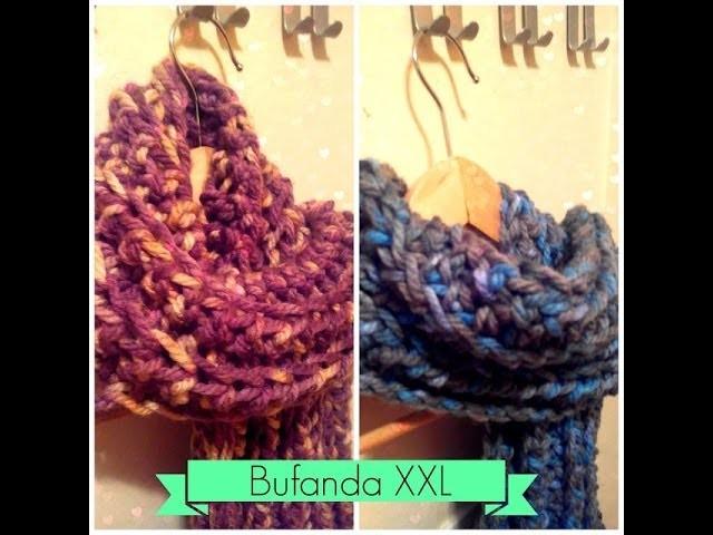 Bufanda fácil de Ganchillo - Easy Crochet Scarf