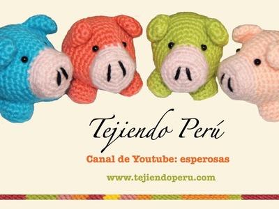 Chanchito tejidos en crochet (amigurumi) Parte 1: tejiendo el cuerpo