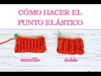 Cómo hacer el punto elástico sencillo y doble | Crochet rib stitch