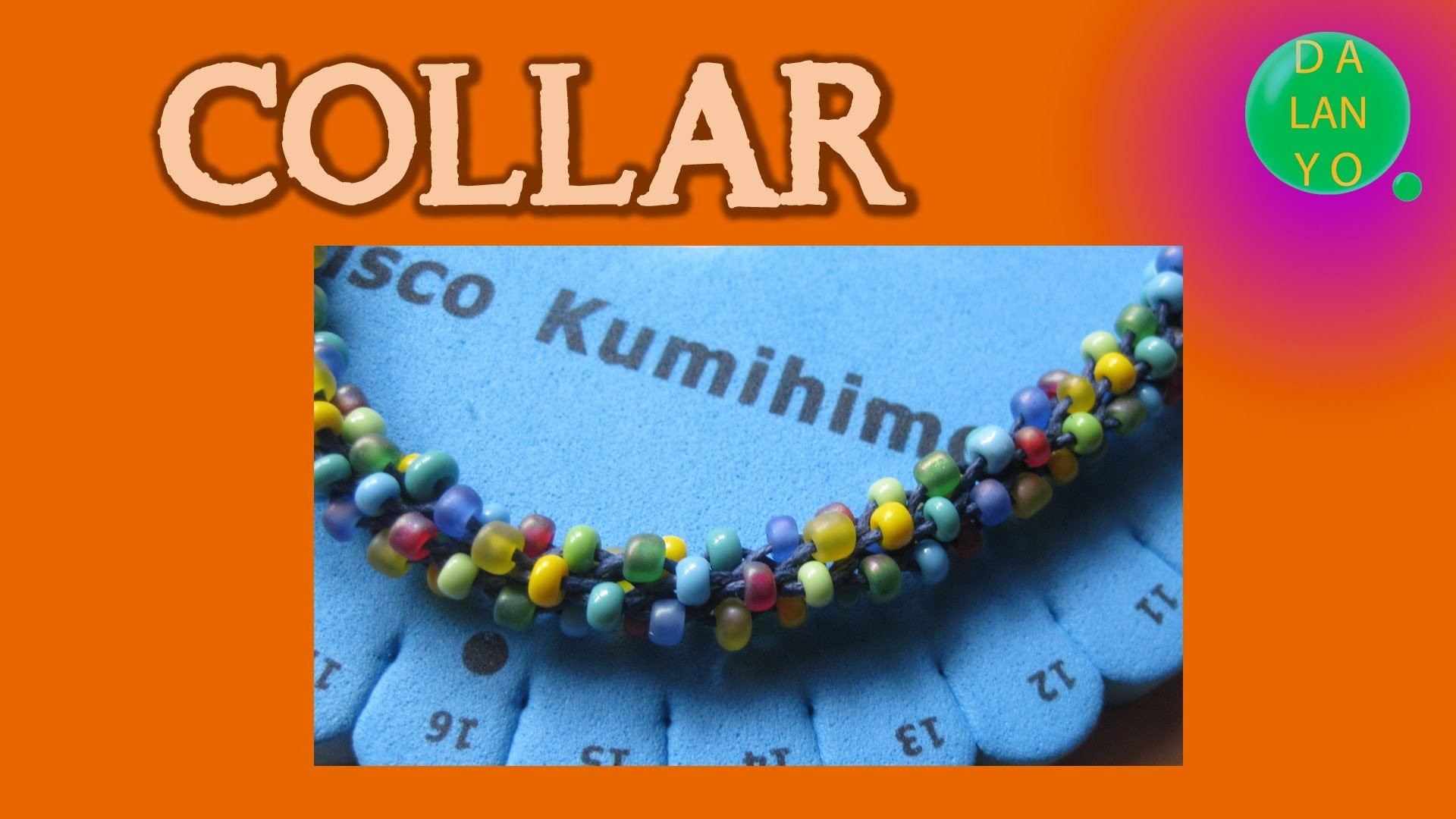 Collar de kumihimo redondo con abalorios | Collares | Tutorial | DIY