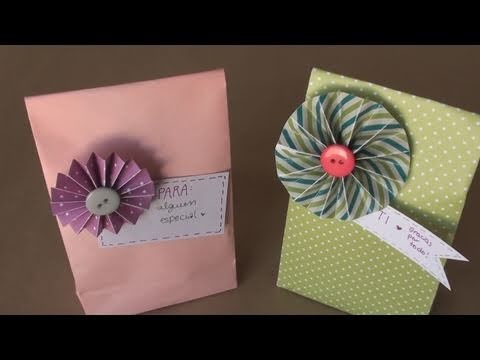 Como hacer bolsa para regalo. DIY paper gift bag