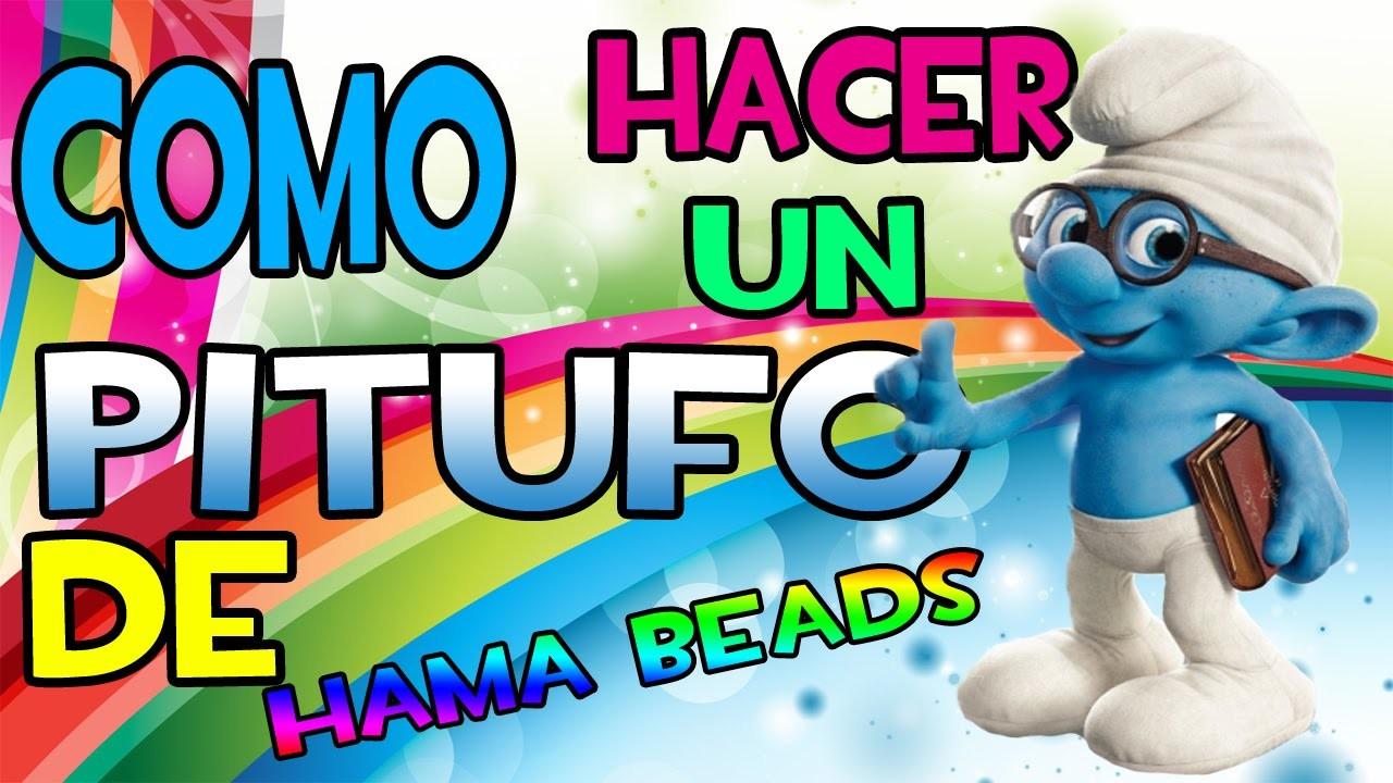 COMO HACER UN PITUFO - Hama Beads Pixel Art Perler