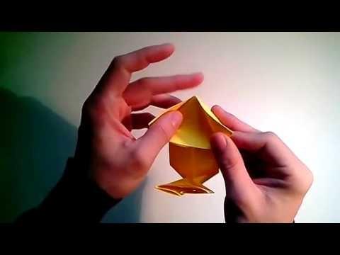Como hacer una caja caramelo de papel sin pegamento   [Origami - Papiroflexia]
