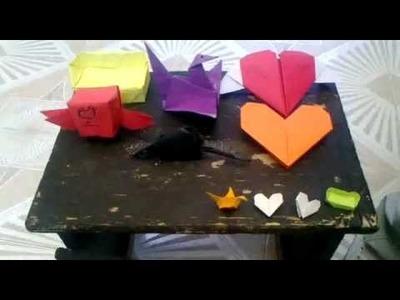 Como hacer varias figuras de papel ,origami