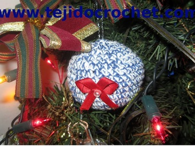 Como tejer Bolas de navidad en tejido crochet, tutorial paso a paso.