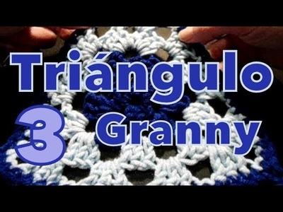 Cómo tejer terminación en granny (granny's edge) reeditado -tejido para zurdos-
