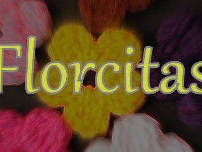 Cómo tejer una florcita al ganchillo (crochet flower) -tejido para zurdos-