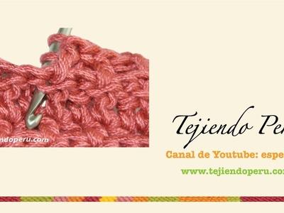 Crochet: punto en relieve tomado por detrás del tejido