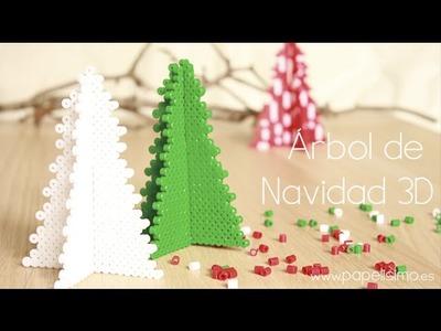 Diseños hama beads de Navidad 2014 Árbol Navidad 3D