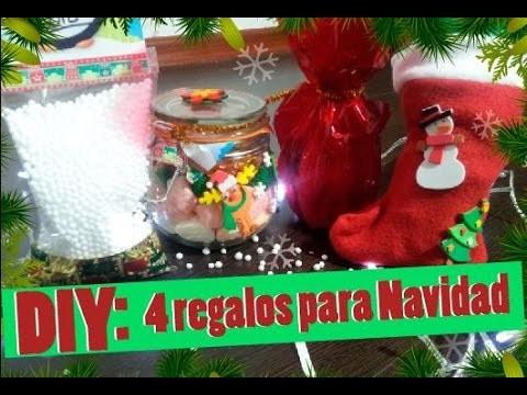 ♥♥ DIY: 4 Regalitos para Navidad. Hazlo Tu Mismo. Christmas Gifts♥♥
