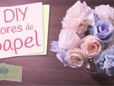 DIY Rosas para regalar | Cómo hacer rosas de papel | Paper flowers tutorial