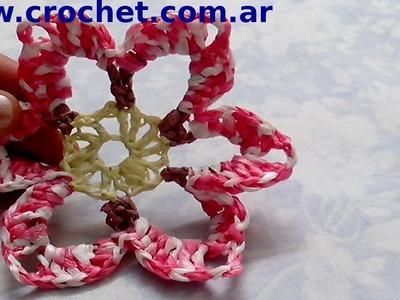 Flor N° 11 en tejido crochet tutorial paso a paso.