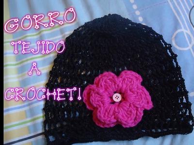Gorrito a Crochet Calado
