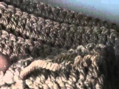 Gorro a crochet para hombre.