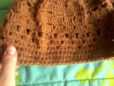 Gorro crochet café