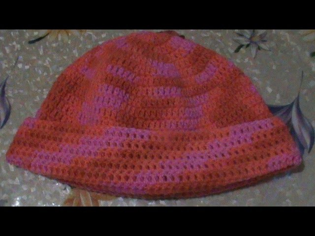 Gorro fácil tejido a crochet. ( unisex )