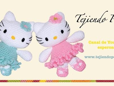 Hello Kitty tejida a crochet (amigurumi)  Parte 4: piernas