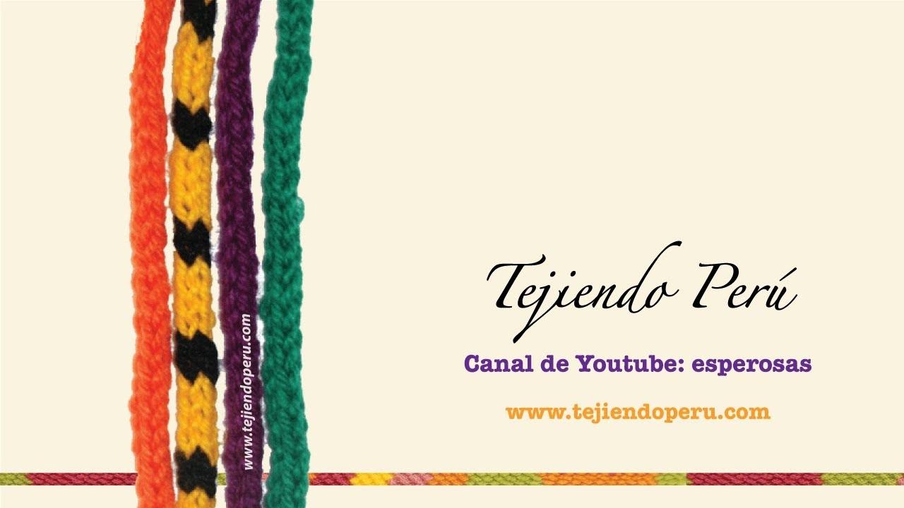 Icord o cordón tubular tejido a crochet