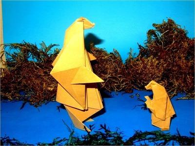 Manualidades con papel oso de origami
