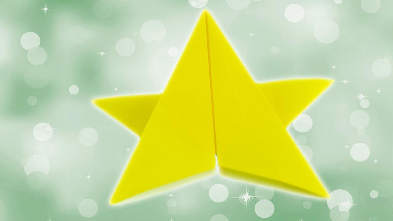Origami de estrella de Navidad. Papiroflexia de Navidad