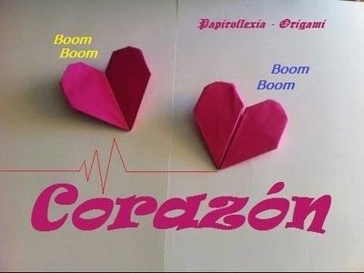 Origami - Papiroflexia. Corazón que late. Regalo San Valentín.