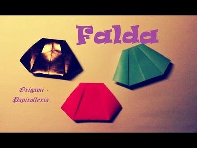 Origami - Papiroflexia. Falda de papel, muy fácil y rápida