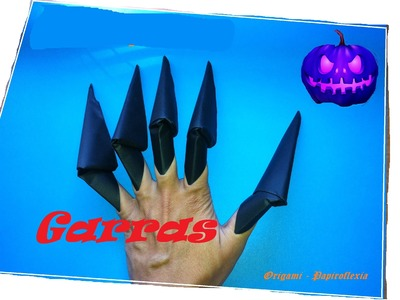 Origami - Papiroflexia. Garras para Halloween