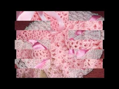 Pañoletas para bebés a crochet