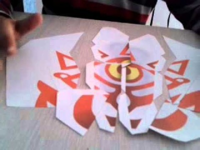 Papercraft: Máscara de la Verdad (The legen of Zelda Majora's Mask)