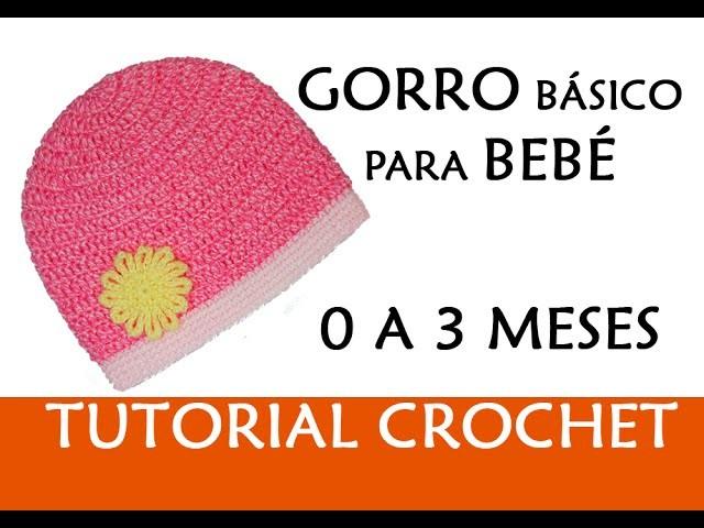 PATRÓN CROCHET: GORRO BÁSICO PARA BEBÉ (0-3 MESES) | Patrones Valhalla
