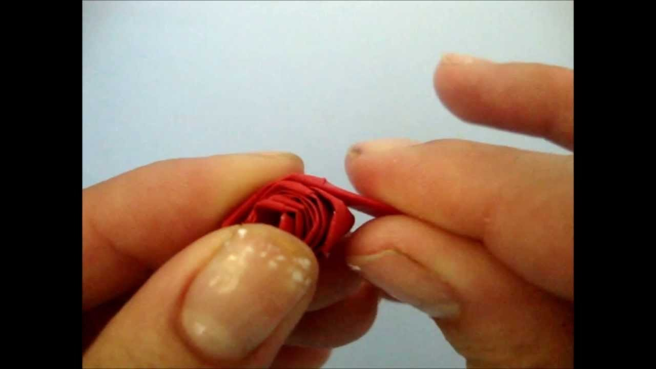 Quilling rose [rosa de origami]