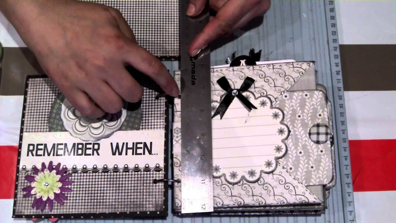 Scrapbook para principiantes 3:Tutorial minialbum fácil, bonito y rápido 2