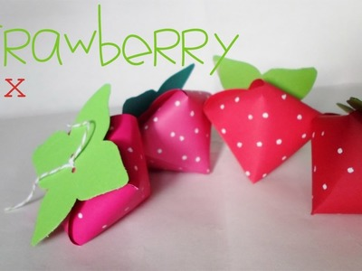 Strawberry box || Paper Crafting || (San Valentin)