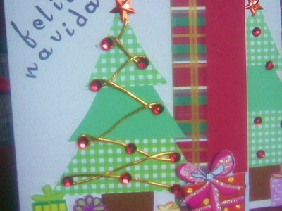 Tarjeta navideña (scrapbook)
