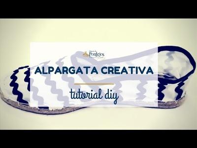 [Tutorial DIY] - Cómo hacer una alpargata creativa