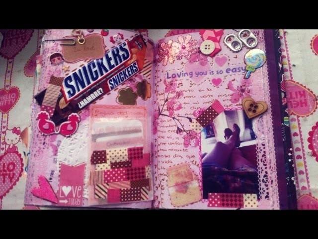TUTORIAL SCRAPBOOK ♥ SMASH BOOK BABY Haz una pagina conmigo ♥ 02  10  2013
