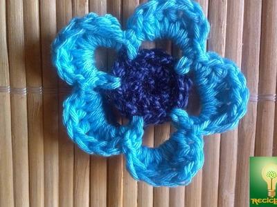 "1º taller de las técnicas de la abuela ""flor de crochet FACILÍSIMA"" ♥"