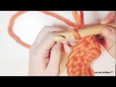Aprender crochet - Cómo hacer punto bucle en crochet