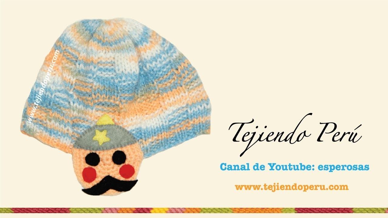 Bufanda y gorrito para niños tejidos en dos agujas y crochet  (parte: 2 bufanda)