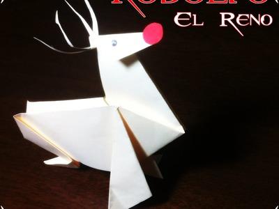 Como hacer a RODOLFO el RENO- ORIGAMI -SOLO DE GUITARRA  rodolfo el reno