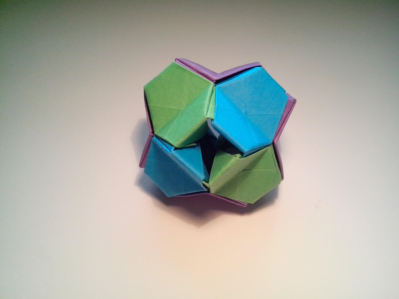 Como hacer origami modular en 3D (little turtle)