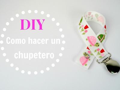 Diy - Cómo hacer un chupetero. Pacifier clip tutorial